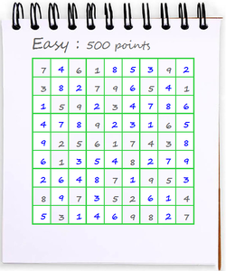 sudoku grid filled